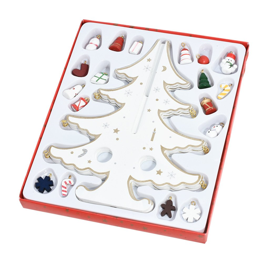 Yunnanhere DIY creative wooden Christmas tree decoration (white) by yunnanhere (Image #1)
