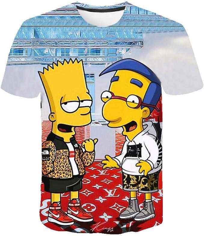 GGGBO The Simpsons Camisetas Sudadera con Estampado 3D Otaku de Anime japonés para Mujeres y Hombres Camisetas Cosplay Disfraz-A_XXL: Amazon.es: Ropa y accesorios