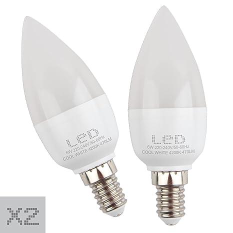 Sunmatic Bombilla LED Candle 6W 2700K | 6W=42W | 470 Lúmenes | Rosca E14