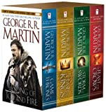 """A song of ice and fire 1-4 ; A game of thrones ; A clash of kings ; A storm of swords ; A feast for crows"" av George R.R. Martin"