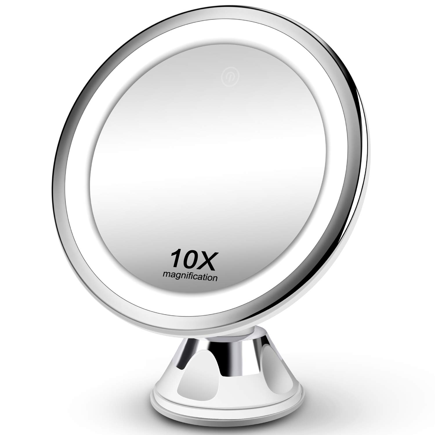 Makeup Mirror 10x Magnifying Vanity Mirror 3 Color Modes 36 Led Cosmetic Mirror High Definition Touch Control 360 Rotation Powerful Suction Cup For Bathroom Shower Travel Buy Online In Antigua