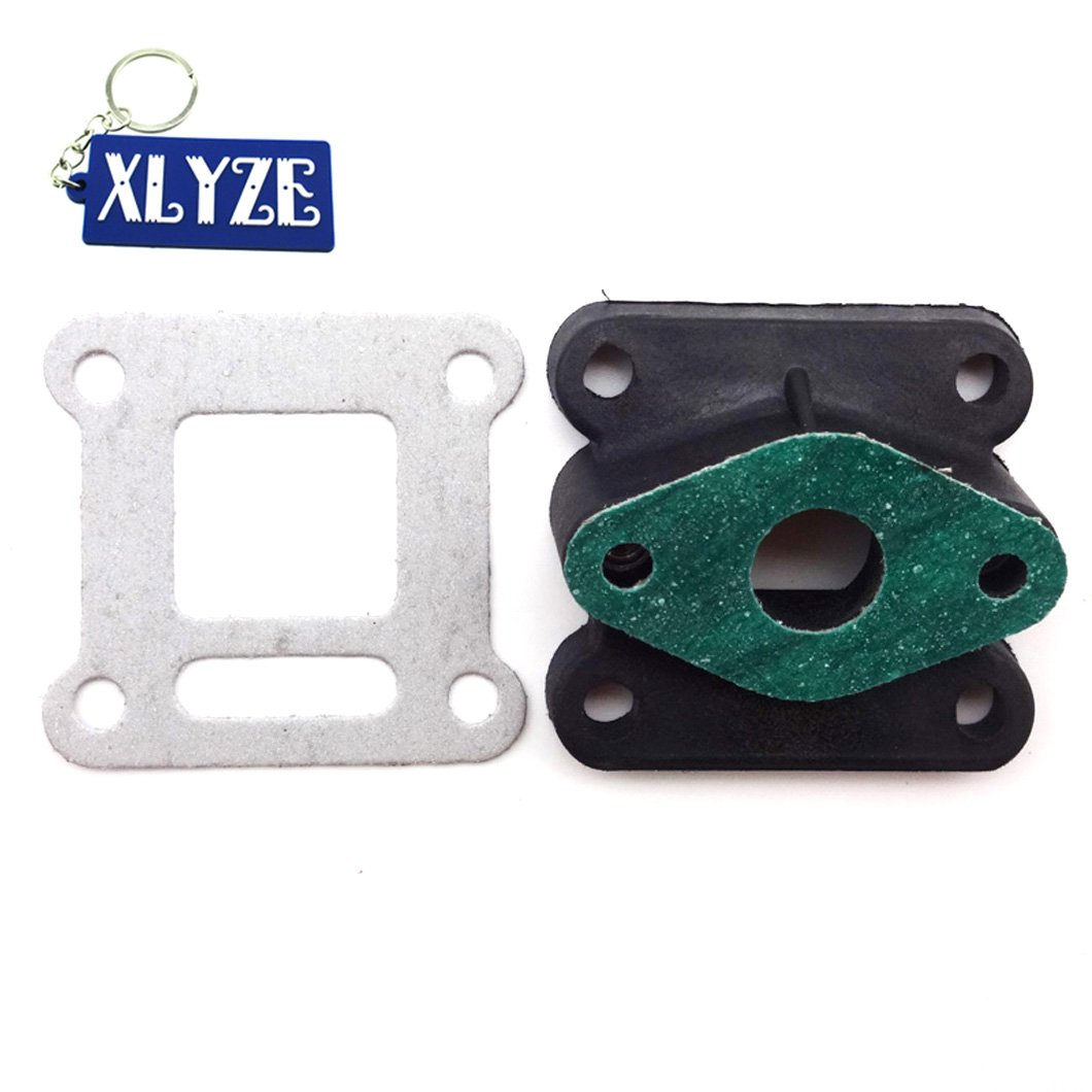 XLYZE Pocket Bike Carburetor Inlet Manifold Intake for 47cc 49cc Mini Moto ATV Quad Dirt Bike