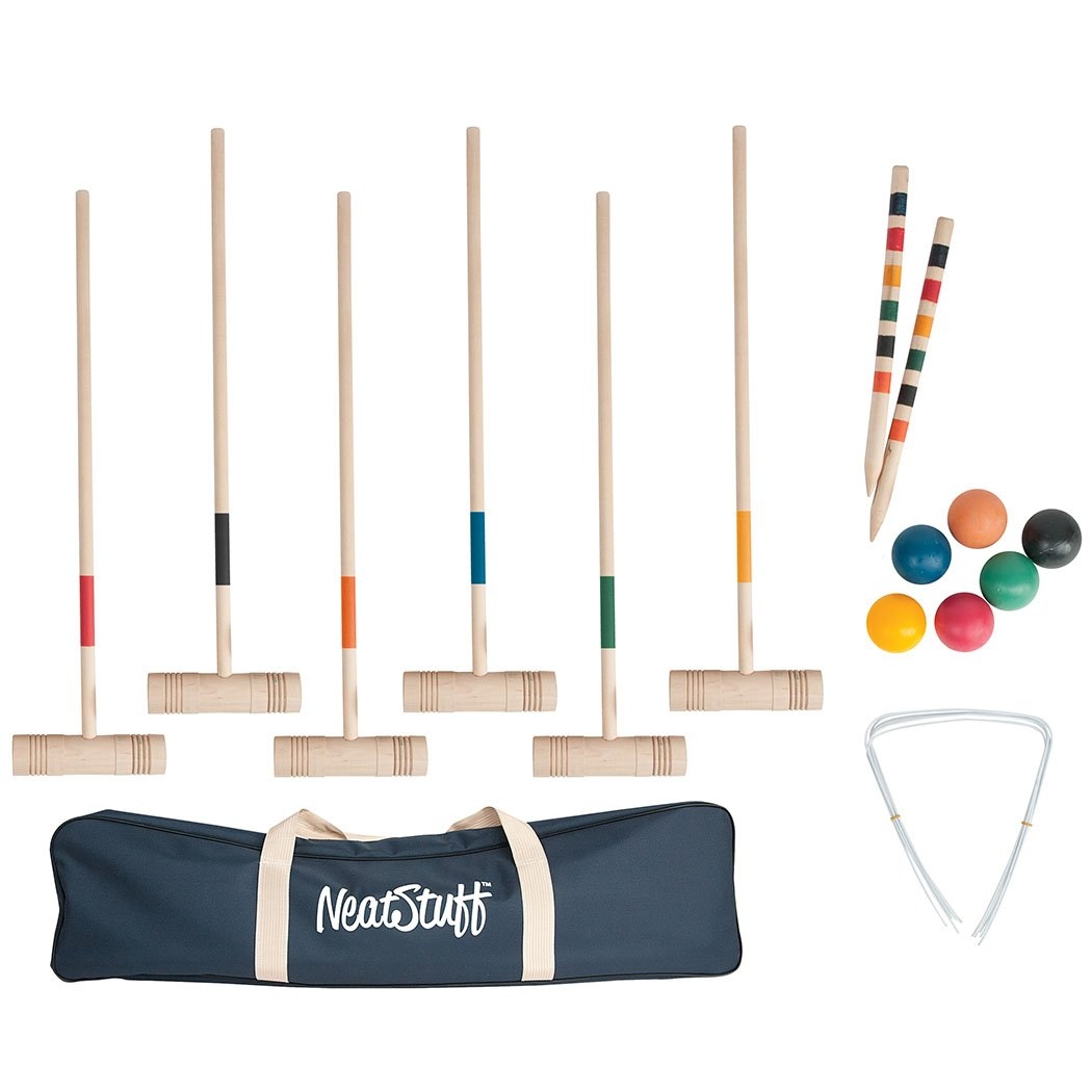 Neat Stuff Six Player Croquet Set with Carry Bag