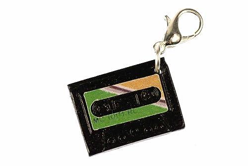 miniblings MC Cinta de Cassette de música Encanto de lengüeta de Arrastre de Remolque Mixtape Volumen Verde: Amazon.es: Joyería
