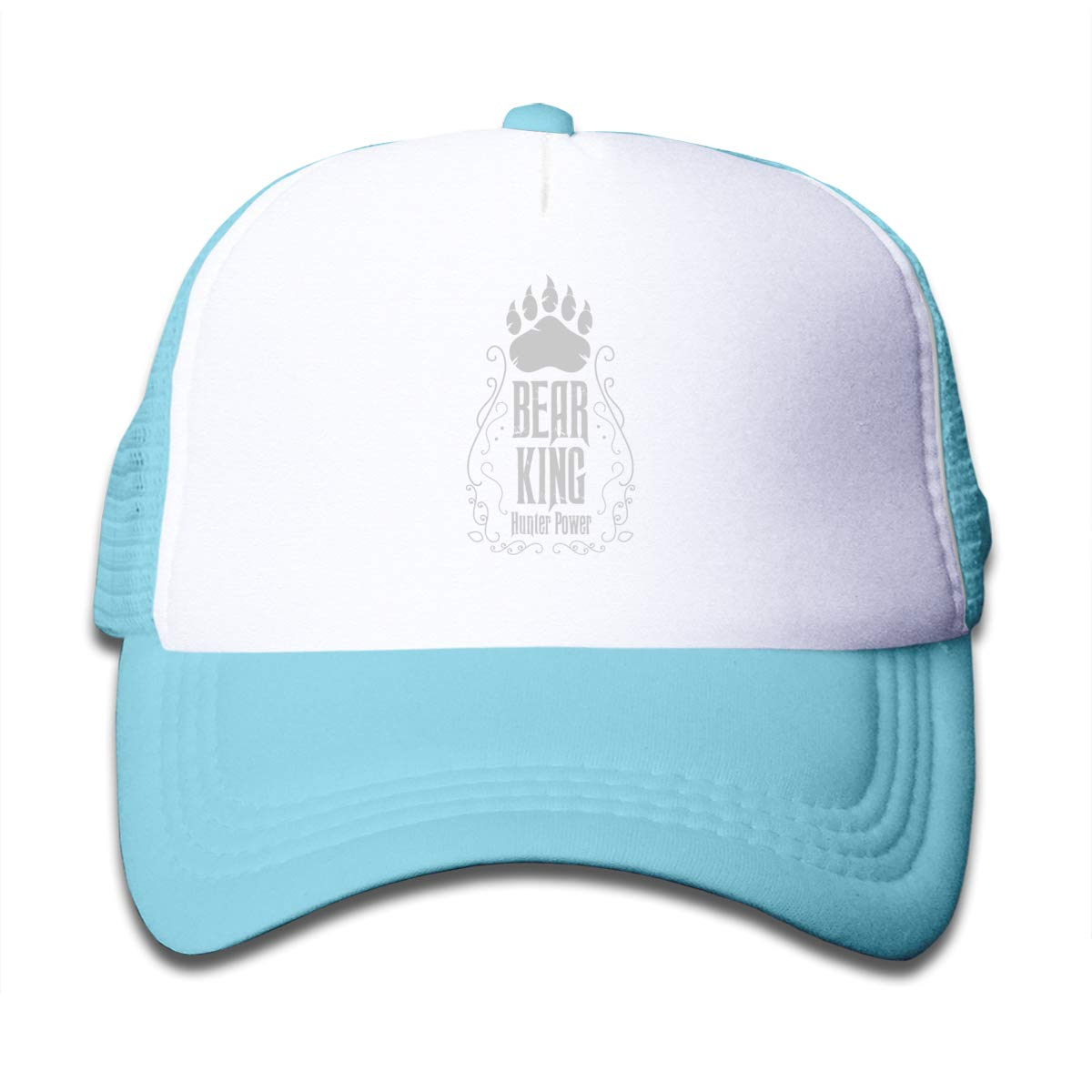 437dceefeaa65d Amazon.com: Bear King Hunter Power Mesh Baseball Caps Boy Adjustable  Trucker Hat Sky Blue: Clothing