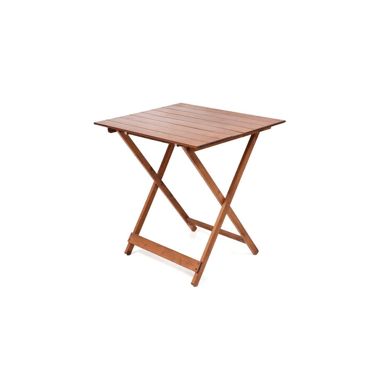 Tavolo tavoli legno pieghevole 60 x 80 regolabile in altezza colore noce lucido tavolo da giardino da balcone richiudibile FRASM