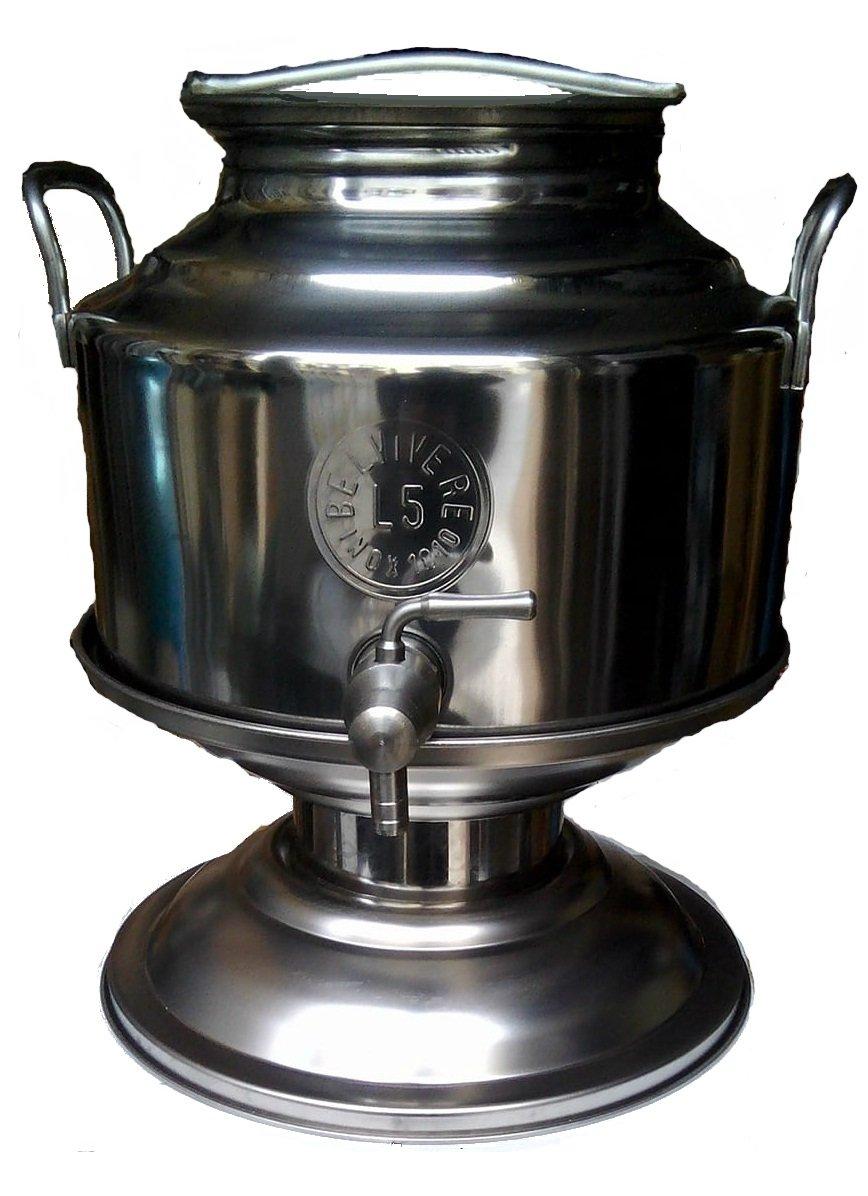 Contenitore 5 Litri Per Olio Bidone Con Piede e Rubinetto In Acciaio Inox STORE TRICARICO