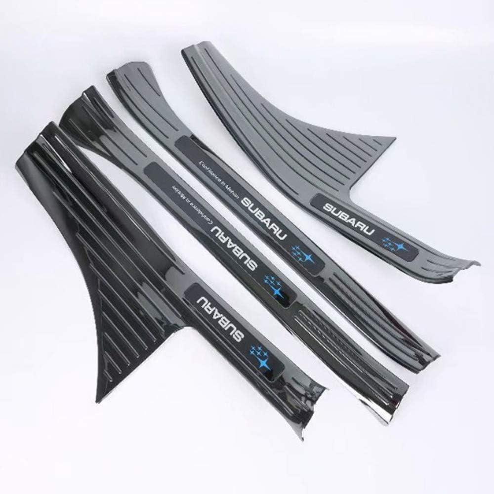 JJZXZQ Door Sill Scuff Plate Einstiegsleisten Edelstahl Welcome Pedal Car Styling Abdeckleiste Kompatibel Mit Subaru XV 2018 4St,Inner