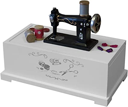 Caja de costura 22x17x12cm - Blanco: Amazon.es: Bricolaje y herramientas