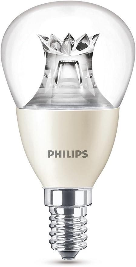 Image ofPhilips Lighting Bombilla gota Vela LED de luz cálida, 6W/40W, casquillo E14, regulable, 6 W, Blanco, 40 W           [Clase de eficiencia energética A+]