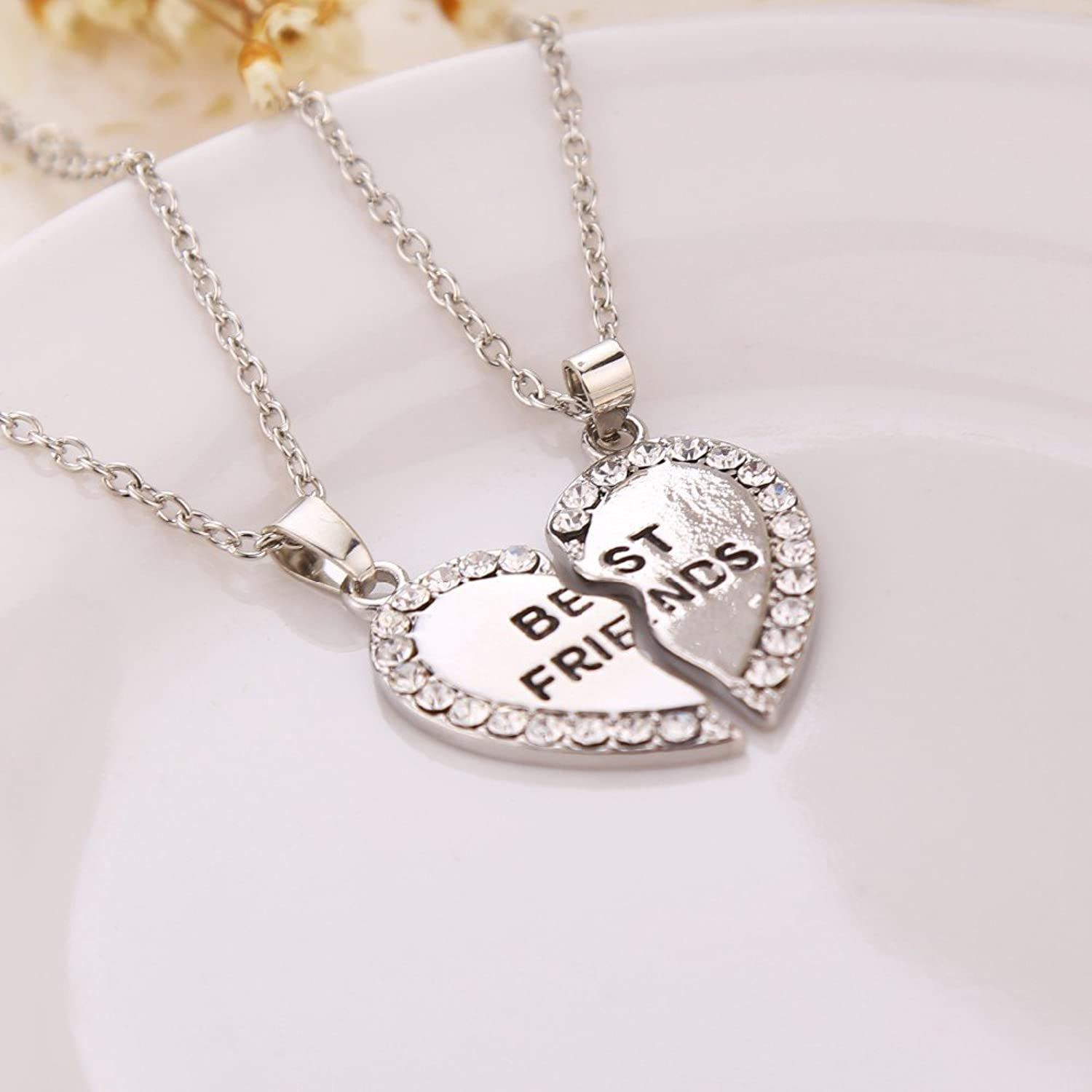 two dp tarnish jewelry friends special gift half necklaces best fashion guaranteed lifetime heart friend resistant pendants lockets life necklace for gold