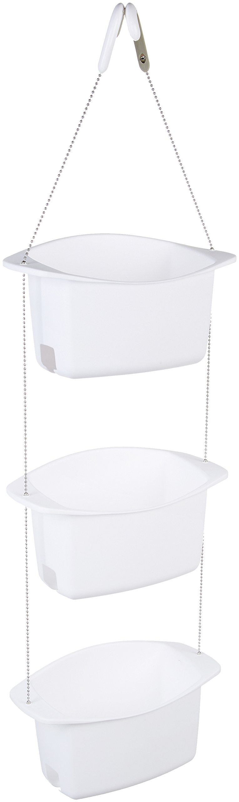 Sowerhead Caddy Shower Organizer Basket Adjustable Hanging Plastic ...