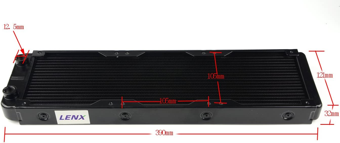 BXQINLENX 18 Pipe Aluminum Heat Exchanger Radiator for PC CPU CO2 Laser Water Cool System Computer 360mm(B)