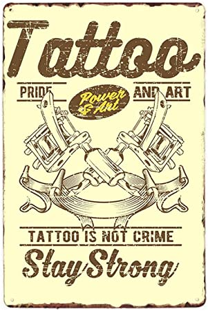 yycsqy Cartel De Pared De Metal Vintage Cartel Tatuaje Decoración ...