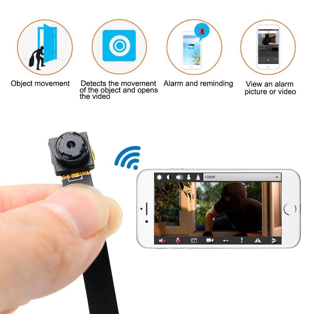 Mini Cámara UYIKOO HD 1080P WiFi Cámara Espía Pequeña Cámara Oculta Soporte de Detección de Movimiento/Grabación de Bucle para la Seguridad del Hogar: ...