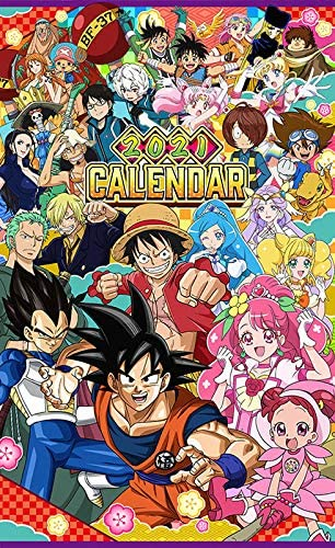 TV Anime Dragon Ball One Piece 2021 Calendrier Muraux Anime
