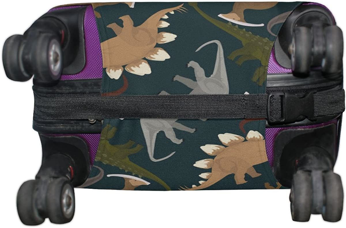 GIOVANIOR Dark Dinosaurs Luggage Cover Suitcase Protector Carry On Covers