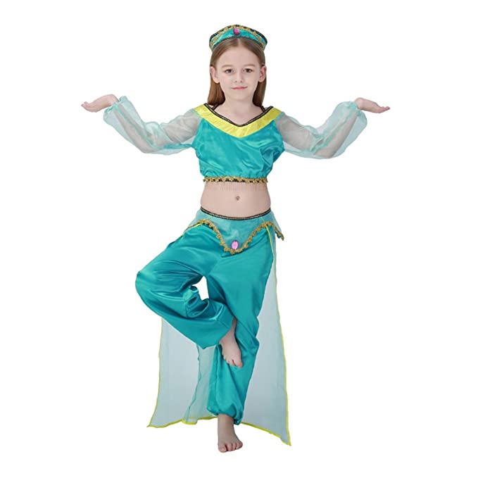 Disfraz Infantil de Princesa Árabe Niñas para Fiesta Halloween Carnaval
