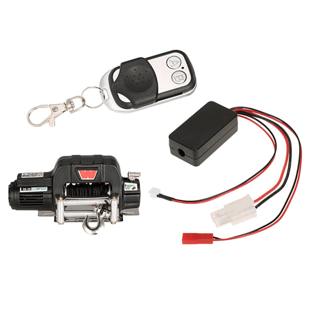 Homyl RC Crawler Winch Wireless Remote Control Receiver for 1:10 Traxxas TRX-4 Hsp