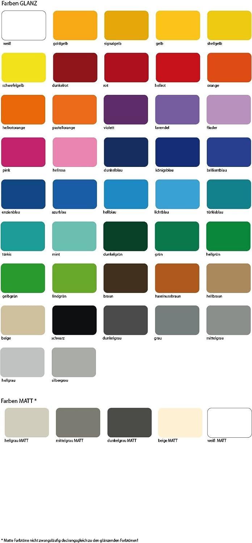 Fliesenaufkleber 25 x 20 cm von Luminess Made in Germany 51 Stk - viele Farben zur Wahl