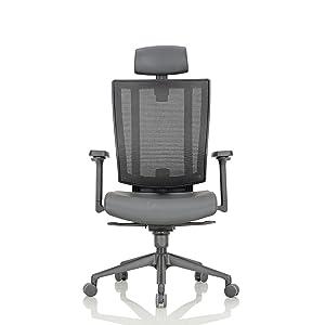 Featherlite Liberate High Back Desk Arm Chair (Black)