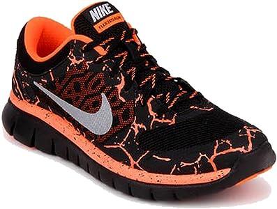 Nike Flex 2015 RN Lava (GS), Zapatillas de Running para Niños, Negro/Plateado/Rojo (Black/Mtllc Silver-Ttl Crmsn), 39 EU: Amazon.es: Zapatos y complementos
