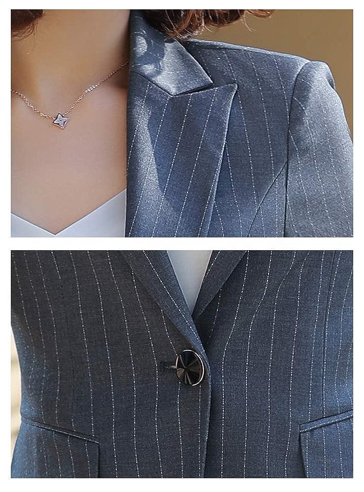LISUEYNE Damen Basic Hosenanzug Slim Fit mit EIN Knopf f/ür Hochzeit Party Business