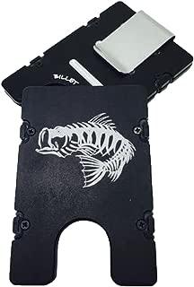 product image for HMC Billet Bass Bones RFID Protection Credit Card Holder Aluminum Wallet, Black