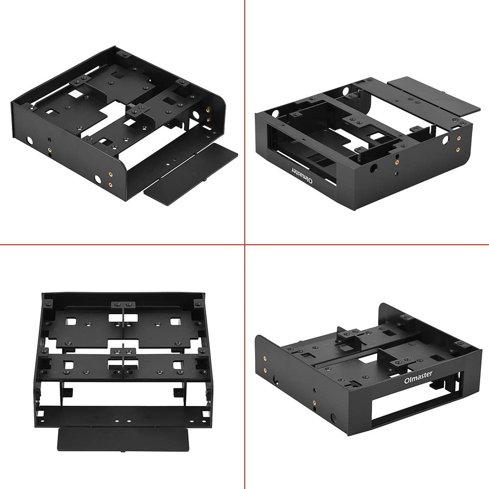 Floppy-Drive Adapter Bracket Hard Drive Bracket 2.5 // 3.5 HDD//SSD to 5.25 Floppy-Drive Bay Computer Mounting Bracket Adapter Computer Drive Enclosures