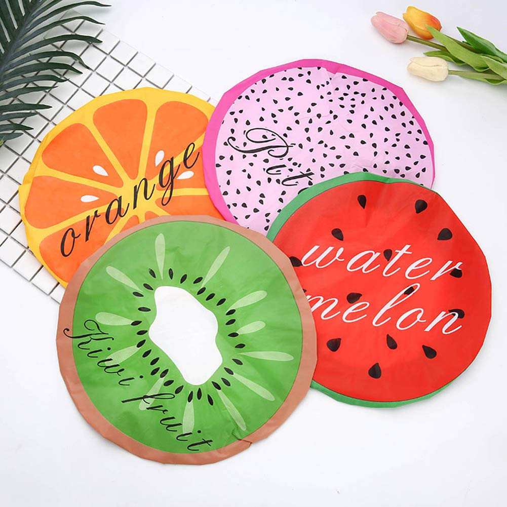 Amazon.com: ZZBUY Cute Fruit Shower Bath Cap for The Sauna Gorras para Mujer Hair Shower Caps Lace Bands Elastigas Kids Shower Cap Satin Bonnet E: Sports & ...