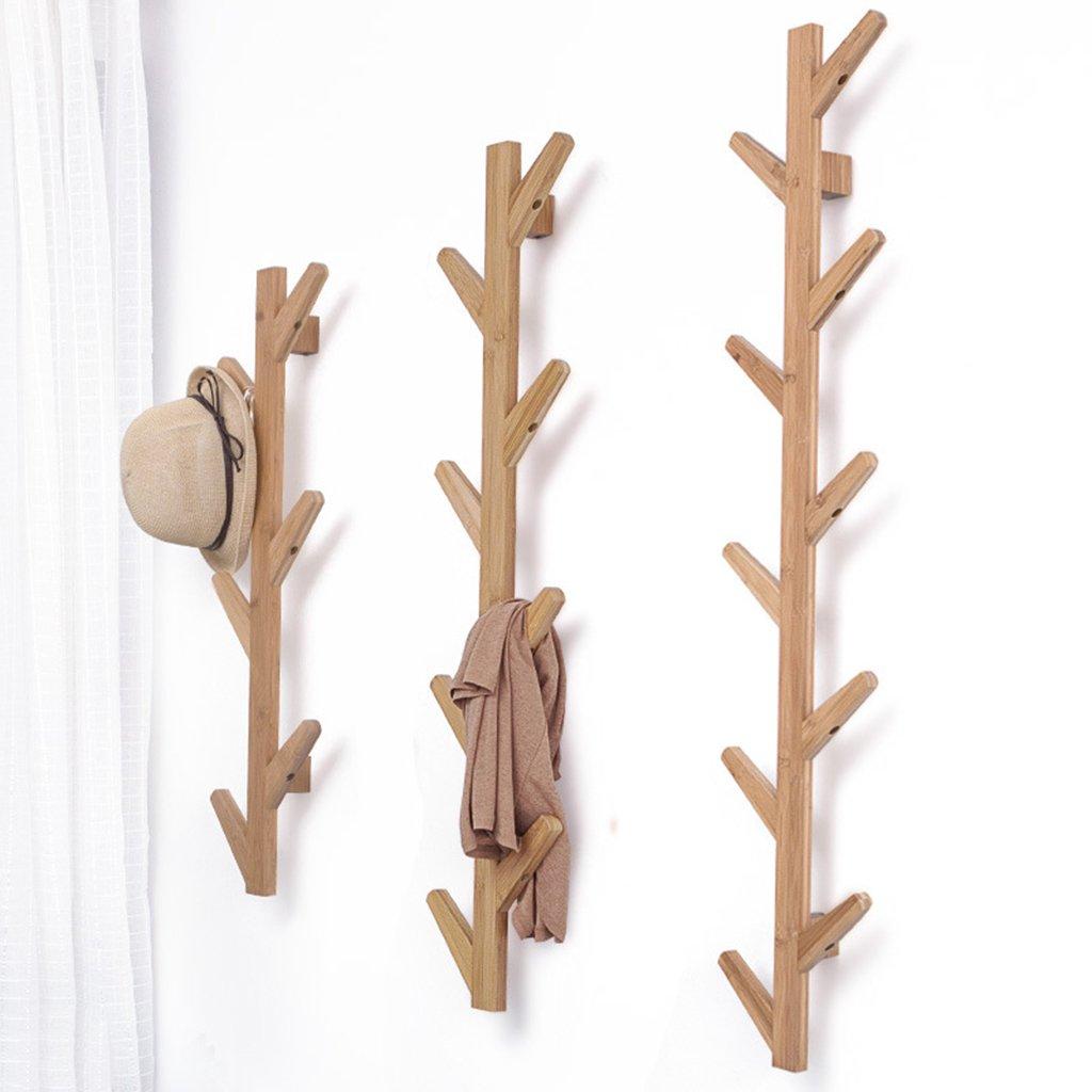 LL Garderobenständer An der Wand befestigter Kleiderständer-Baum-Form-Eingangshalle-Portal-dekorative Zahnstange-Festes Holz (größe   21.5x7x98cm)