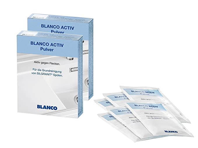 Set of 2 520784 Blanco Activ Cleaning Powder for Silgranit Sinks ...