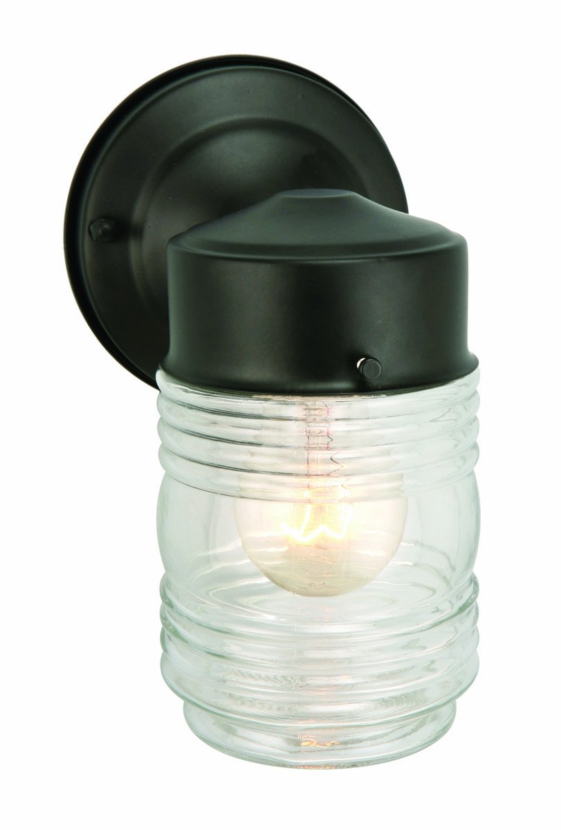 Com Design House 500181 Jelly Jar 1 Light Indoor Outdoor Wall White Home Improvement