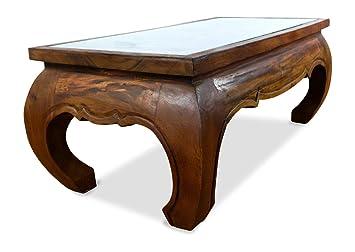 Grand Opium Table avec élégant sculpté éléphant, Table Basse ...