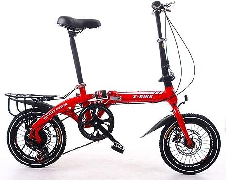 LETFF Bicicleta Plegable para Adulto de 16 Pulgadas para Hombre y ...