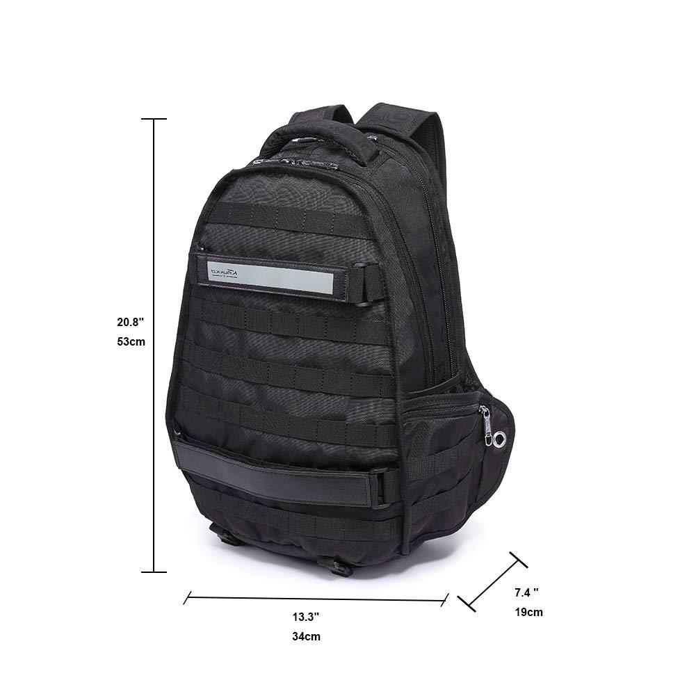 Mochila de ordenador portátil de los hombres, bolsa de viaje de moda con gran capacidad multi-función de Kaukko (Negro) : Amazon.es: Equipaje