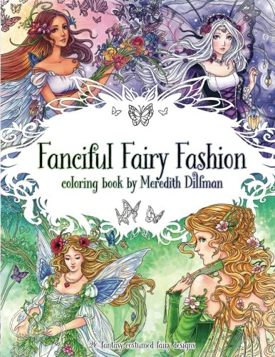 Girls Roman Outfits (Fanciful Fairy Fashion coloring book by Meredith Dillman: 26 fantasy costumed fairy)