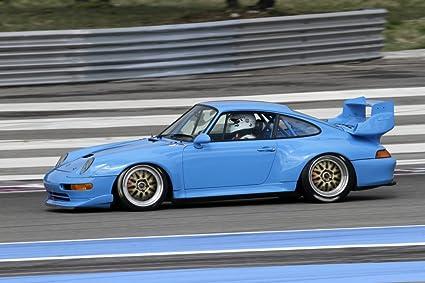 Porsche 911 993 GT 993GT Left Side Blue HD Poster Super Car 24 x 16 Inch