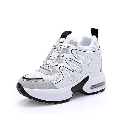 timeless design f769c 84475 AONEGOLD Sneakers Zeppa Donna Scarpe da Ginnastica Sportive Fitness Scarpe  con Zeppa Interna Tacco 7 cm