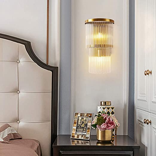 Chambre De Luxe Moderne Chevet Salon Mur Hôtel Double Lampe ...