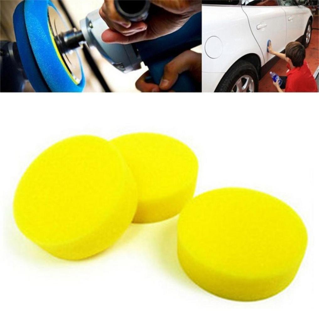 Fabal 10Pcs Car Waxing Polish Foam Sponge Wax Applicator Cleaning Detailing Pads (Yellow)