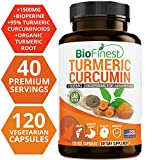 Biofinest Turmeric Curcumin – 1500mg with Bioperine Black Pepper – Made in USA – Joints Support and Anti Aging Supplement with 95% Standardized Curcuminoids (120 Vegetarian Capsules) For Sale