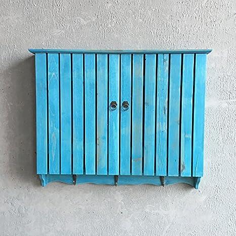 RUGAI-UE Valla de jardín, Azul, Caja para Contador eléctrico Caja ...