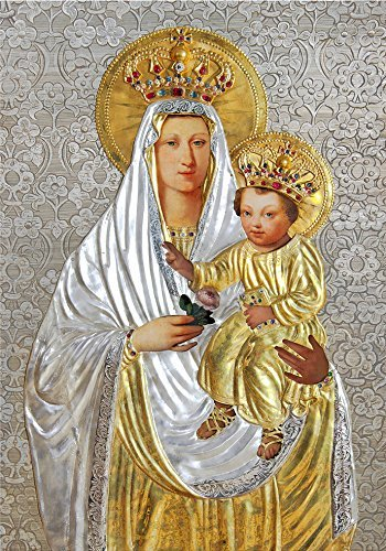 Our Lady of Rosary print Statue POSTER 12x16 Virgin Mary and Child Jesus image Blessed Mother picture Polish Madonna print Poland Christmas Catholic posters