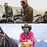 Yerwal 9pcs Windproof Seamless Skull Face Mask