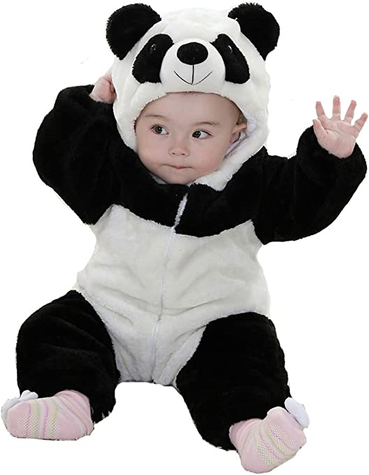 Panda Animal Bebé Disfraz 3 – 24 M manga larga de franela One ...