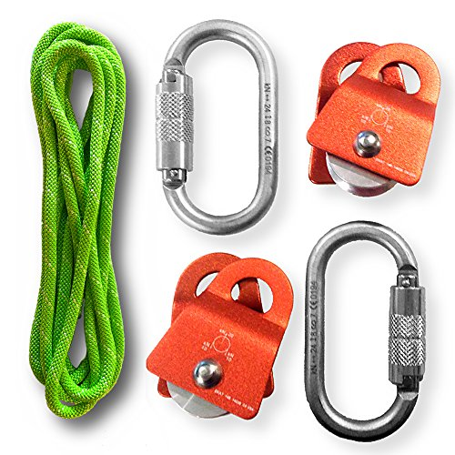 zRig Static Rope Pulley Haul System 2to1 & 3to1 Mechanical Advantages with Progress (Rope Pulley Systems)