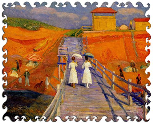Artifact Puzzles - William Glackens Cape Cod Pier Wooden Jigsaw Puzzle