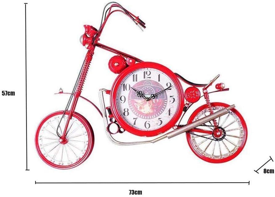 MWPO Reloj de Pared Grande Diseño de Bicicleta de Hierro, Reloj de ...