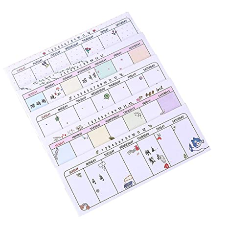 Amazon.com : Wodwad 1PC DIY Weekly Planner Memo Notes ...